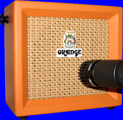 Orange Micro Crush & Shure SM57